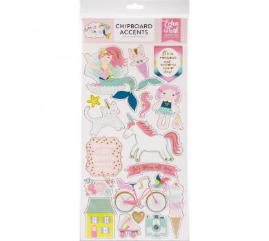 Картонный чипборд на клеевой основе, коллекция Imagine That Girl, арт. ITG46021
