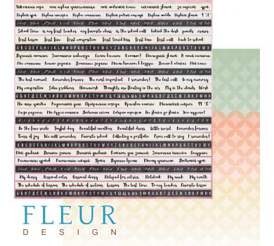 Двусторонний лист бумаги для скрапбукинга Школьная пора, коллекция Моя школа, FD1006212