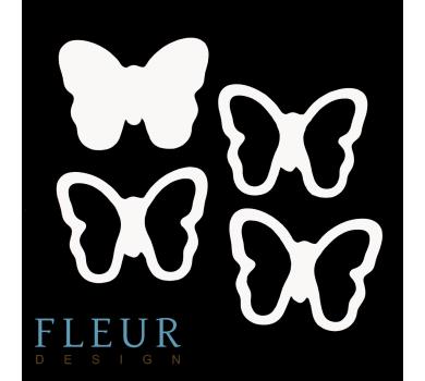 Заготовка для шейкера Бабочка маленькая от FLEUR design, FD1531030
