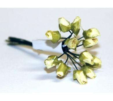 Декоративный букетик Розы кремовые, 12 шт., арт. DKB055B2