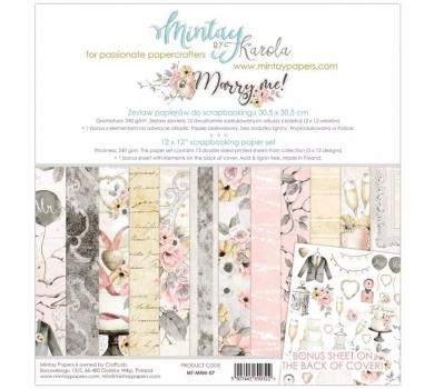 Набор бумаги для скрапбукинга Marry me by Mintaypapers, арт. MT-MRM-071
