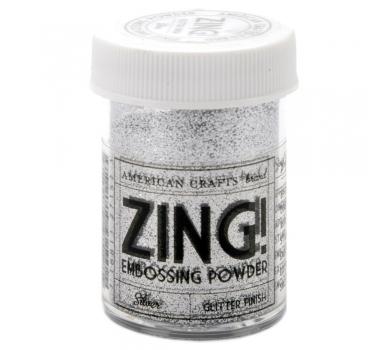 Пудра для эмбоссинга с глиттером American Crafts ZING, цвет Серебро, 28.4г, 27152