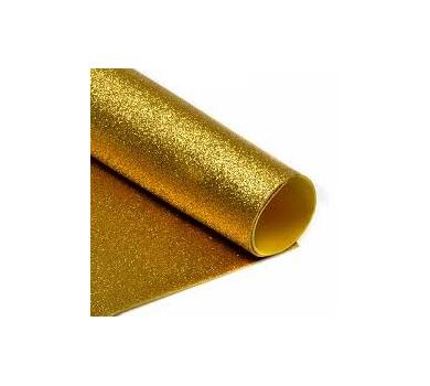 Глиттерный фоамиран золотой, арт. H032