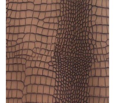 Кожзам с тиснением под рептилию, коричневый, арт. KA420813