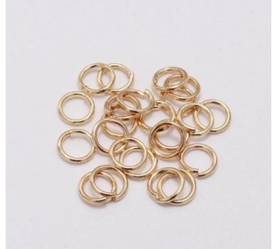 Соединительное колечко, цвет розовое золото, KA300148