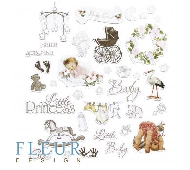 Набор высечек, коллекция Наш малыш - девочка, FD2044002
