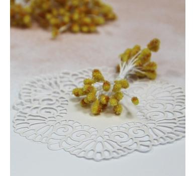 Тычинки сахарные двусторонние, цвет Желтый, 55х4 мм, 20 шт, AL30041714