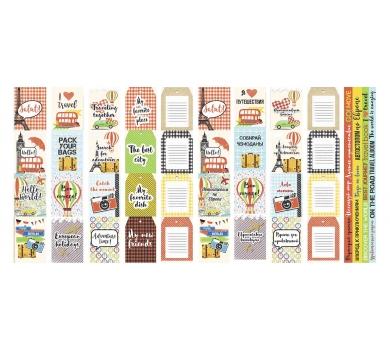 Набор полос с картинками для декорирования European holidays, 5х30.5 см, 200 гр/м2, 01036