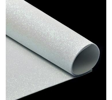 Глиттерный фоамиран белый, арт. H020
