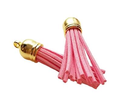Декоративная кисточка из искусственной замши, розовая, KA106038