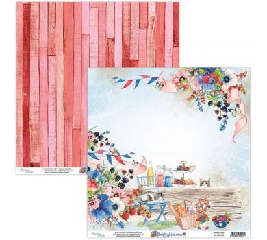 Бумага двусторонняя для скрапбукинга Berrylicious by Mintaypapers, арт. MT-BER-03