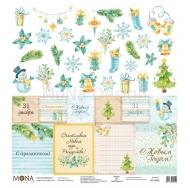 Односторонний лист Карточки, коллекция Новый год, MD39952