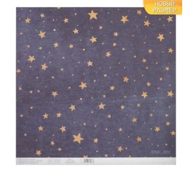 Бумага для скрапбукинга односторонняя с блестками Сияние звёзд, 3330266