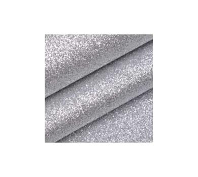 Ткань с глиттером, цвет серебро, SC400503