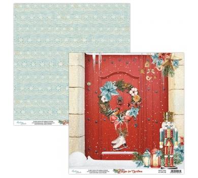 Бумага двусторонняя для скрапбукинга Home for Christmas by Mintaypapers, арт. MT-HFC-02