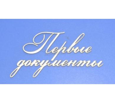 Чипборд надписи Первые документы, ARTCHB002819