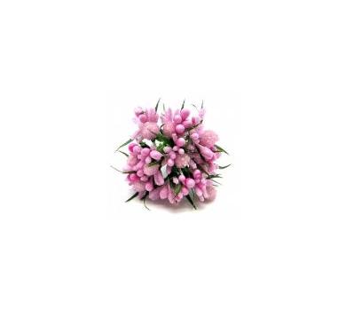 Декоративный букетик розовый, DKB120B