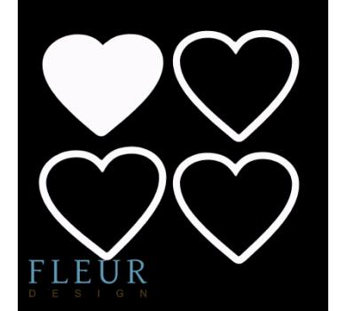 Заготовка для шейкера Сердце маленькая от FLEUR design, FD1531034