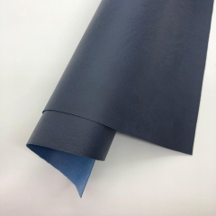 Кожзам (экокожа) на полиуретановой основе с тиснением мантуя (мятая кожа), цвет темно-синий, арт. SC400068