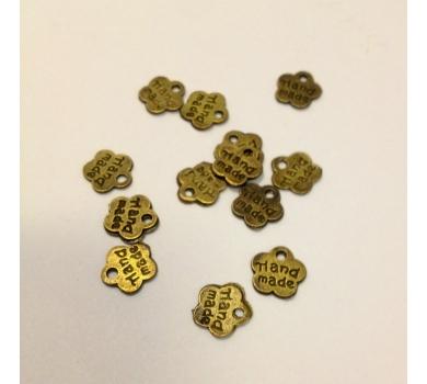 Металлическое украшение Цветочек Hand made, цвет бронза, диаметр 0,8 см, KA10072