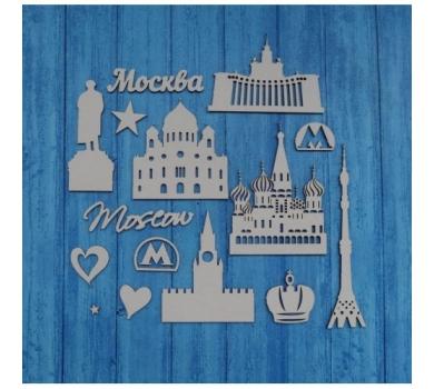 Чипборд Путешествия Москва, 110х160 мм, 0372