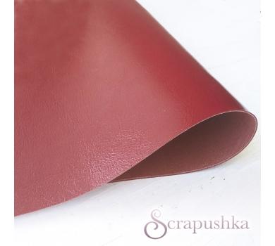 Кожзам (экокожа) на полиуретановой основе глянцевый красный, арт. SC401203