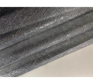 Кожзам с тиснением под рептилию, серебро, арт. KA400807