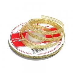 Лента парчовая, цвет золото, арт. 0486