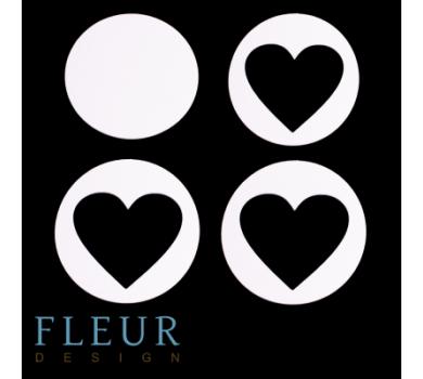 Заготовка для шейкера Круг с сердцем от FLEUR design, FD1531025