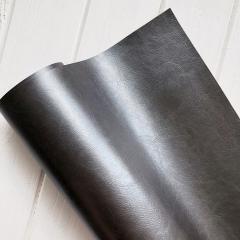 Кожзам (экокожа) на полиуретановой основе глянцевый черный с тиснением, арт. SC401213
