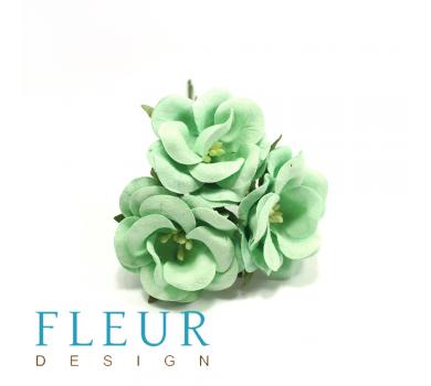 Цветы дикие розы, цвет мятный, арт. FD3123166
