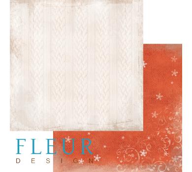 Лист бумаги для скрапбукинга Свитер, коллекция Шале, арт. FD1003007