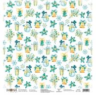 Односторонний лист Зимний узор, коллекция Новый год, MD11693