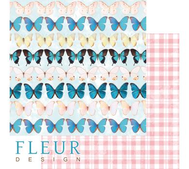 Лист бумаги для скрапбукинга Бабочки, коллекция Твори, FD1006604