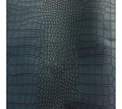 Кожзам с тиснением под рептилию, темно-синий, арт. KA400812