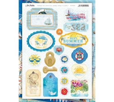 Набор украшения из чипборда Sea adventure, арт 100240