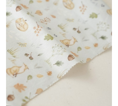 Отрез ткани Forest story Лисы в осеннем лесу, арт. IMD-013-01