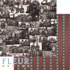 Лист двусторонней бумаги для скрапбукинга Солдаты, коллекция Храбрые сердца, FD1008704