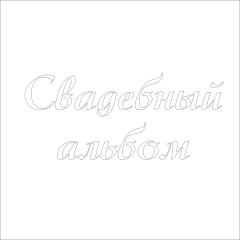 Надпись из термотрансферной пленки Свадебный альбом, SC102064