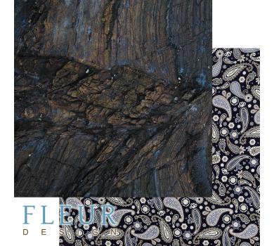 Лист двусторонней бумаги для скрапбукинга Дерево, коллекция Мистер Грэй, FD1008204