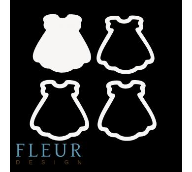 Заготовка для шейкера Платье, от FLEUR design, FD1531043