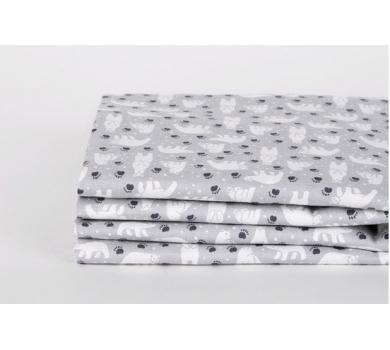 Ткань для рукоделия Полярный мишка, размер 45х55, 100% хлопок, плотность 30, DL1-2019