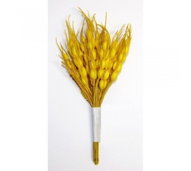 Декоративный букетик колоски желтые, DKB032C
