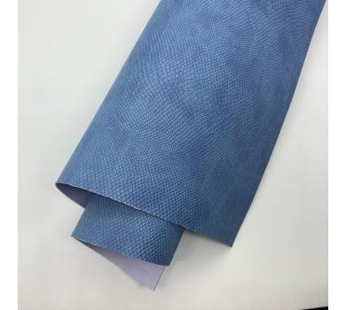 Кожзам (экокожа) на полиуретановой основе с тиснением под питона, цвет лондонский туман, арт. SC400047