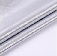 Кожзам с эффектом металлик, цвет серебро, KA410401