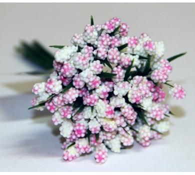Декоративный букетик, цвет розовый, арт. DKB028B