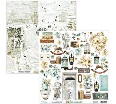 Бумага двусторонняя для скрапбукинга Old Manor by Mintaypapers, арт. MT-OLD-09