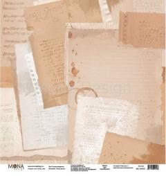 Лист бумаги для скрапбукинга Тонким пёрышком, коллекция Учат в школе, 95606