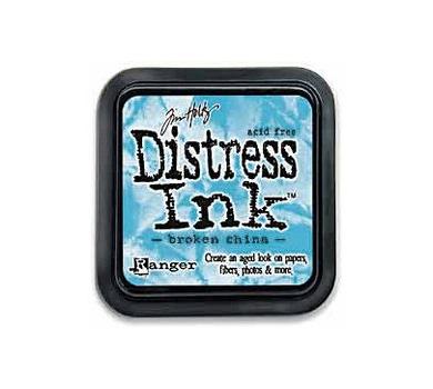 Штемпельная подушечка Tim Holtz Distress на водной основе, 5х5 см, цвет Разбитый фарфор, Broken China , TIM21414