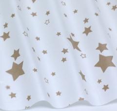 Отрез ткани Звезды на белом, арт. 125805